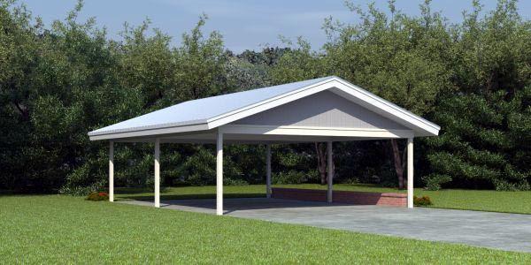 Traditional Style 2 Car Garage Plan Number 46794 Carport Plans Carport Designs Free Standing Carport