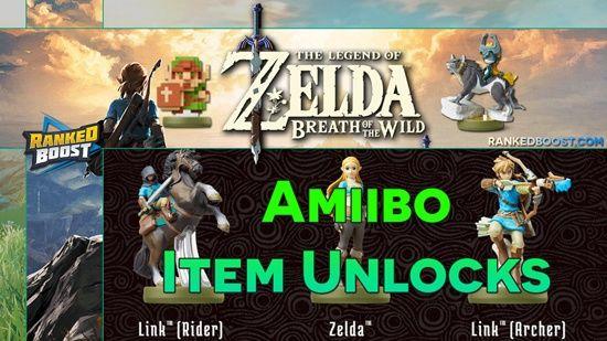 Zelda Breath Of The Wild Amiibo Unlocks Breath Of The Wild