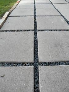 Concrete Slabs For A Patio Fill The Gaps Between
