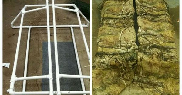 Lay Down Blinds >> Diy goose blind made from pvc pipe | Hunting Blinds ...