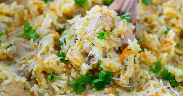 Creamy Chicken and Rice Recipe (a one-pot meal). You'll be going back