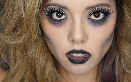 Makeup idea for zombie costume