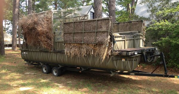 Floating Duck Blind Hunting Ideas Pinterest The O