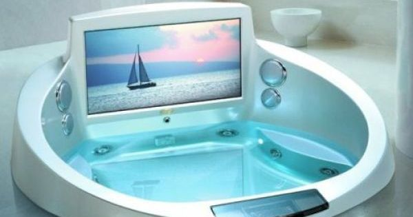bathtub .... I'd never get out and on my dream house list