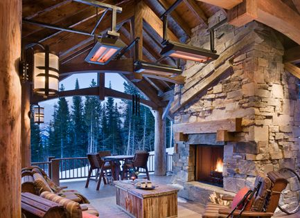 log cabin - outdoor space