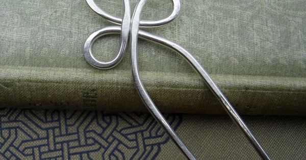 Trinity Loop Sterling Silver Hair Fork, Hair Sticks, Shawl Pin, Scarf Pin