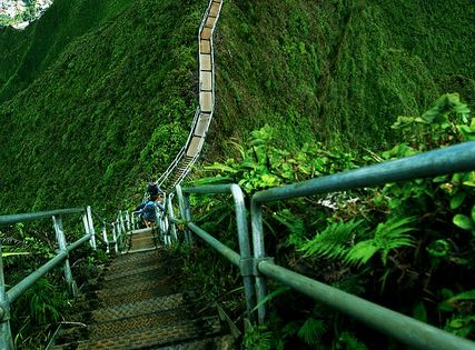 Haiku Stairs - Stairway to Heaven, Oahu, Hawaii. 4,000 steps. Imagine the