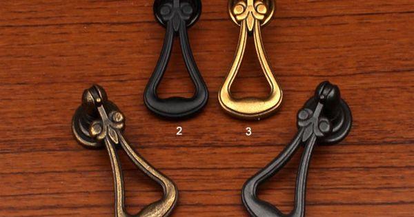 Antique Bronze Dresser Drawer Pull Handles Knob Metal Drop Pull  Cabinet Knobs Handle Pull Knob Furniture Hardware WM479