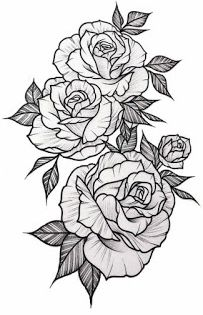 White Background Tattoo For Man And Woman Floral Tattoo Sleeve Rose Tattoo Sleeve Rose Drawing Tattoo