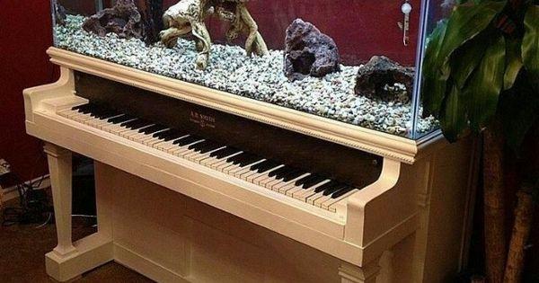 Old Piano Upcycled Into Aquarium Aquariums Pianos And