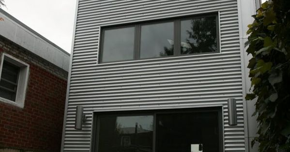Wavy Galvanized Steel Siding Small House On A Budget