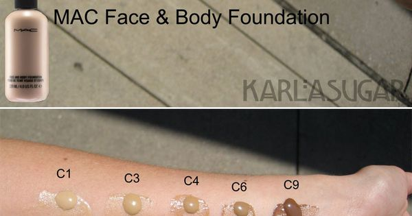 Swatches Mac Face Amp Body Foundation Waterproof