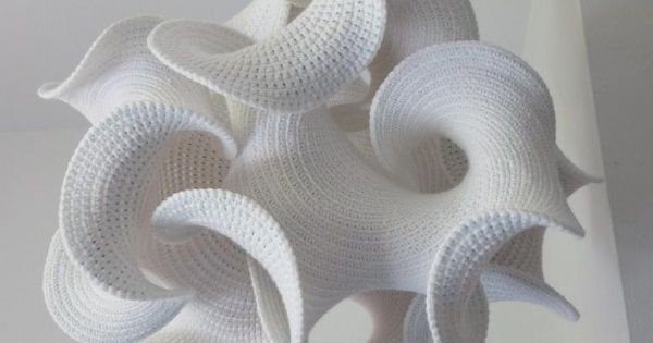 White hyperbolic crochet art crochet ii pinterest crochet home home and crochet home decor Crochet home decor on pinterest