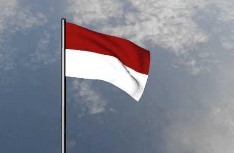 Bendera Merah Putih Berkibar Animasi Animasi Bendera Merah