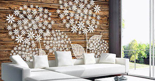 Bild Fototapete Poster Tapete Tapeten Natur Blumen Holz Brett - tapete küche modern
