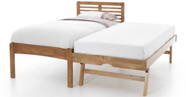 Details About Esther Guest Bed Frame With Pull Out Trundle Hevea