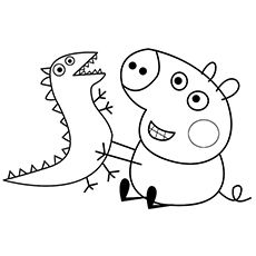 Top 35 Free Printable Peppa Pig Coloring Pages Online Peppa Pig Coloring Pages Cartoon Coloring Pages Dragon Coloring Page