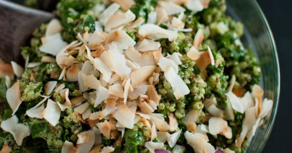Coconut Quinoa and Kale with Tropical Pesto | Healthy Quinoa Dishes ...