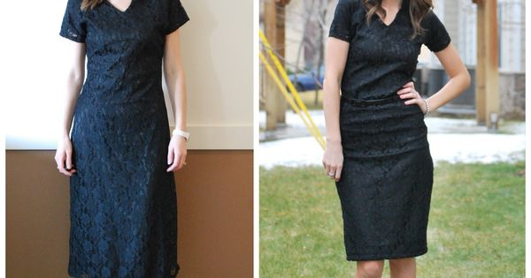 black lace dress refashion by the talented Merrick