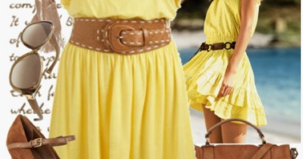 love the soft happy yellow color and the belt makes it amazing,