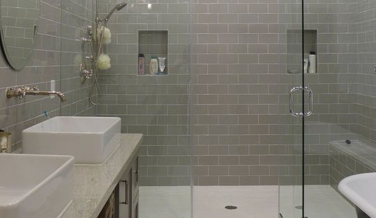 Contemporary Master Bathroom With Rain Shower Daltile