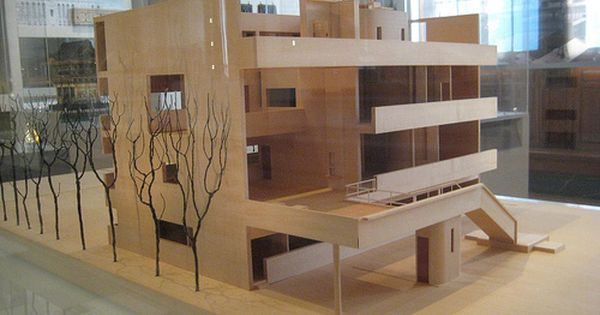 Model Of Le Corbusier S Villa Stein Architecture Model Le Corbusier Space Architecture