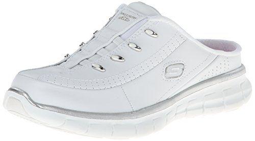 Skechers Sport Womens Elite Glam Fashion Sneaker Whitesilver 7 M