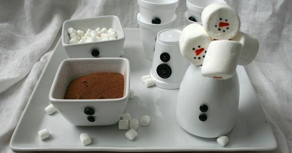 Super cute Snowman hot chocolate bar.