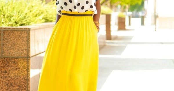Yellow summer maxi skirt. I LOVE LONG YELLOW SKIRTS!