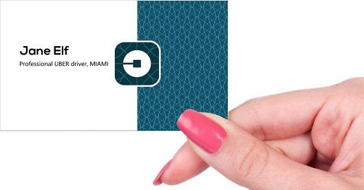 Uber Business Cards Printed By Printelf Free Templates Printing Business Cards Uber Business Uber Driver