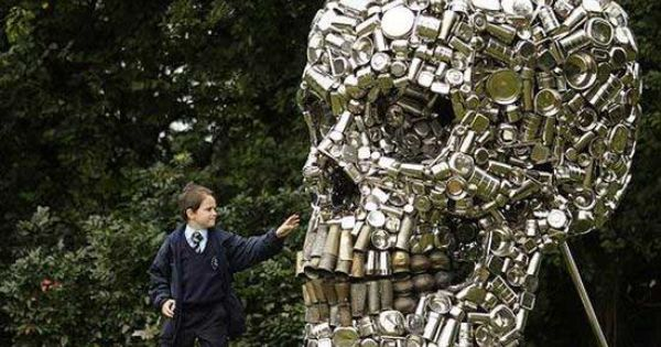 recycled art | Recycled cans - artist Subodh Gupta