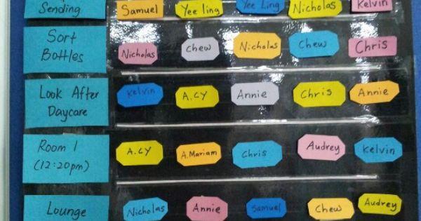 Classroom Duty Roster Design ~ Duty roster classroom ideas pinterest class