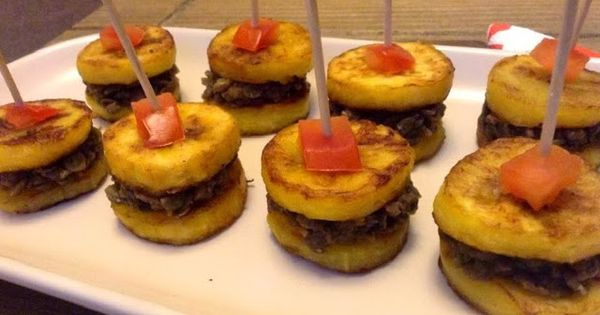 The vegan nigerian beans and plantain canapes african for Gluten free canape ideas