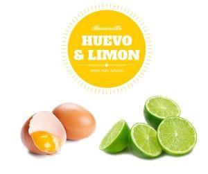 huevo con limón en la cara