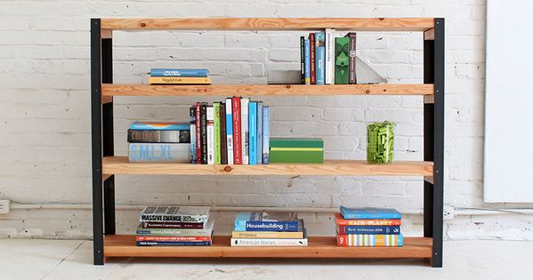Homemade modern diy ep36 ironbound bookcase options diy for Diy modern bookshelf