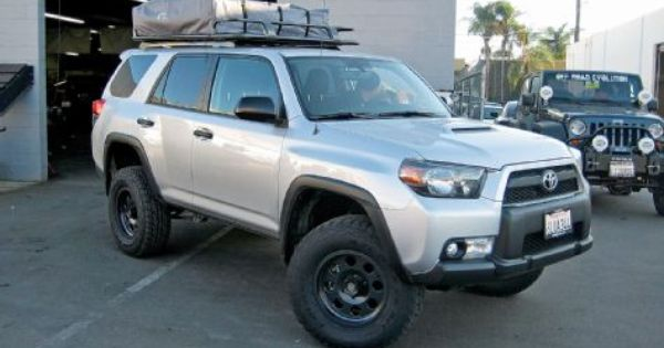 5th Gen Toyota 4runner Trail Edition With Arb Touring Style Roof Rack And Series Iii Rooftop Tent Toyota 4runner 4runner Trail 4runner