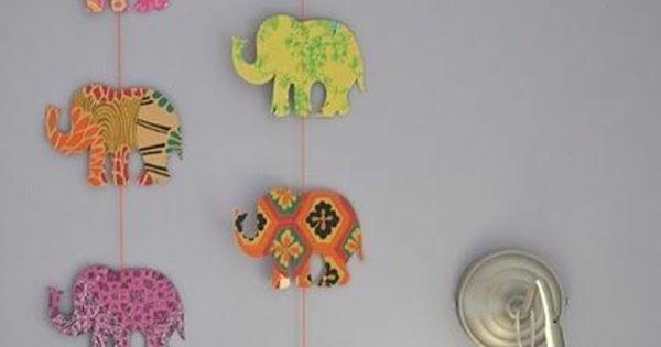 Babyzimmer gestalten diy girlande elefanten kinder pinterest selber machen - Girlande babyzimmer ...