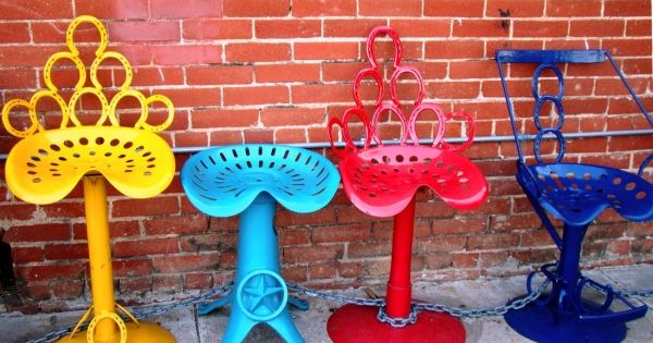 Tractor Seats Classrooms : Tractor seat horseshoe stools karnegie musa