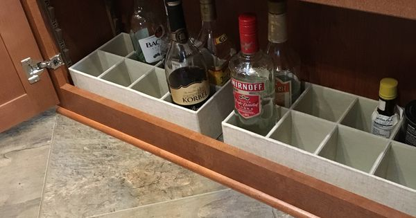 Liquor Bottle Storage In A Fifth Wheel Bottom Shelf Great