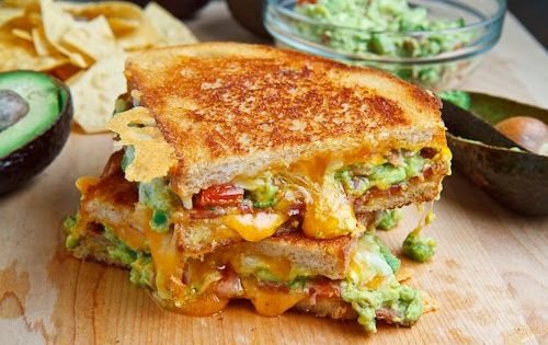 bacon guacamole grilled cheese sandwich. bacon guacamole grilledcheese shovings