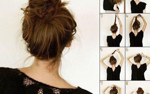 Tutoriel coiffure le chignon facile et rapide coiffures pinterest chignon tuto beaut - Accessoire chignon rapide ...