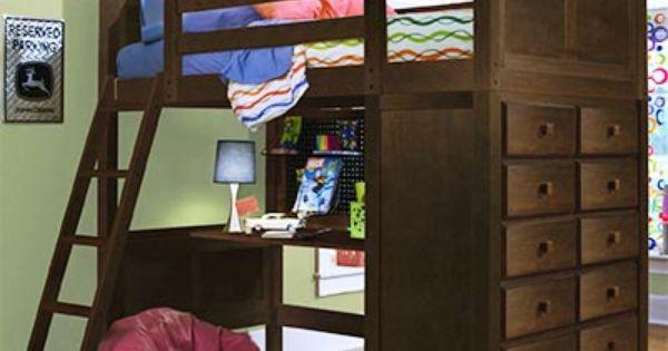 Costco Kenai Espresso Loft Bed With Study Desk Bunk