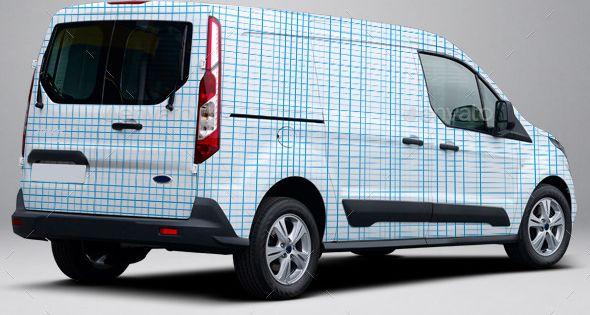 2014 ford transit connect wrap mockup download http. Black Bedroom Furniture Sets. Home Design Ideas