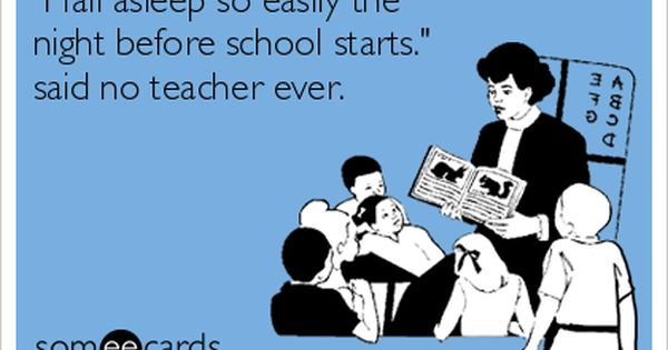Twas The Night Before School Starts With Images Teacher Humor