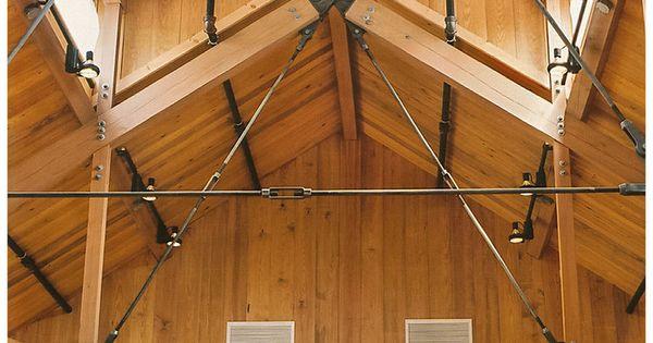 Tie Rod Truss System Timber Pinterest Steel Trusses
