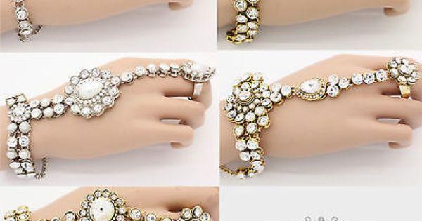 Image result for Heavy kundan rings or hand-ring bracelet