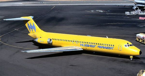 Big Yellow Banana Planes Passenger Aircraft Airlines Aviation
