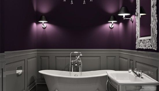 Fabulous Use Of Deep Color Plum And Gray Love It My
