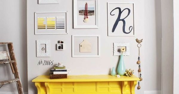Love the painted fireplace idea! I wouldn't go with bright yellow, maybe