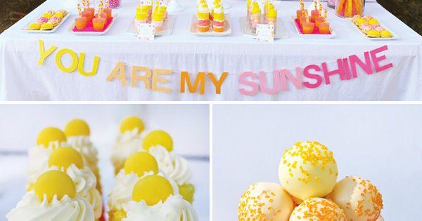 You are my sunshine dessert table! Brooklyn